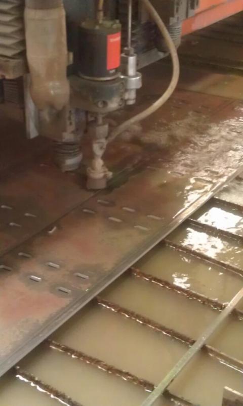 Vattenskärmaskinen